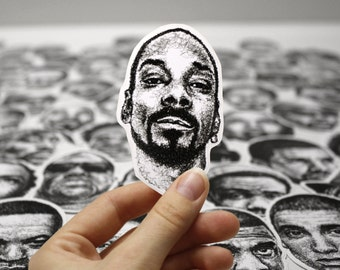 Scribbled Snoop Dogg - Vinyl Sticker