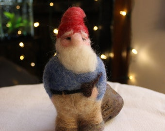 Gnome Jolly Chubby Felted Gnome