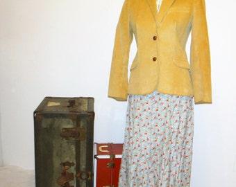 Vintage Tan Corduroy Blazer Size 6 made by The Villager/ Vintage Villager Corduroy Blazer