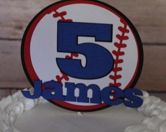 Baseball Cake Topper, Sports Cake Topper, Basketball Cake Topper, Soccer Cake Topper, Football Cake Topper, Boys Cake Topper