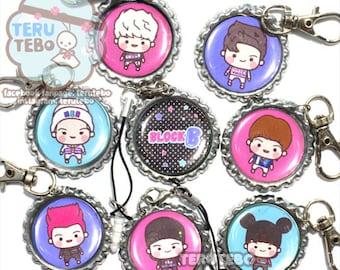 BLOCK B kpop H.E.R  keychain / mobile strap / bottlecap charm (Her)