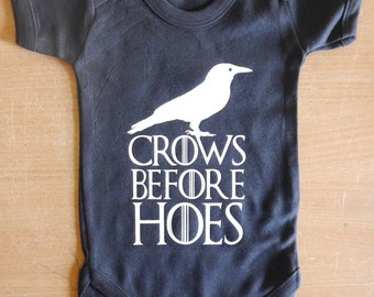 Crows Before Hoes Baby Vest / Body Suit / Play Suit
