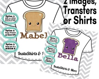 Peanut Butter and Jelly Best Friends Shirts
