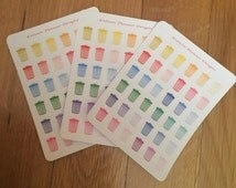 36 Trash Can Stickers for Erin Condren, Happy Planner , Filofax, Plum Paper Planner, Heidi Swap