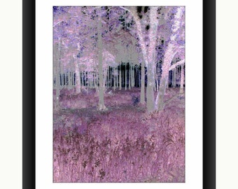 Abstract Mauve Forest, Digital Art, Glossy photo poster