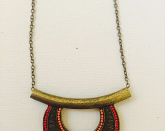 Brass tribal necklace