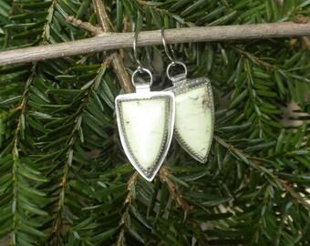 Lemon Chrysoprase Earrings in Silver