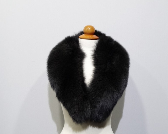 Large fur collar, Special for leather jacket F492