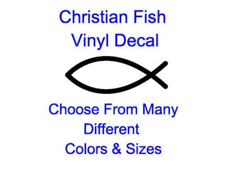 Christian Fish Vinyl Decal (Choose From Many Different Colors)
