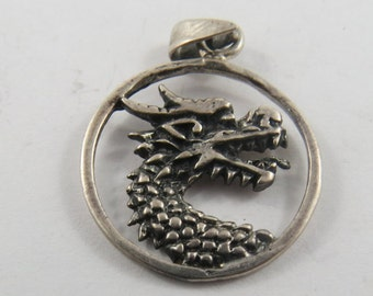 A Beautifully Designed Silver Dragon Charm