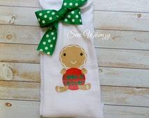 Christmas tea towel- Kitchen decor- Gingerbread kitchen towel