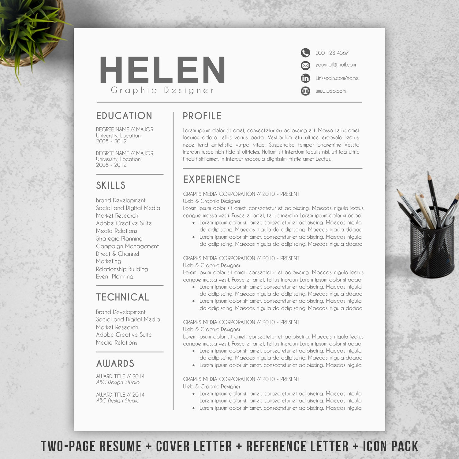 Modern Resumes Resume Templates Cv Template Design Cover Letter