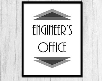 Engineer Gifts Digital Download Engineer Wall Art Engineering Gifts Printable Art Gifts for Engineer Instant Download Office Art Printables