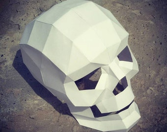 Halloween,Halloween decoration,happy halloween,Day of the Dead,3d Skull,Party Decor,Papercraft,Origami skull,Printable skull,Lowpoly skull