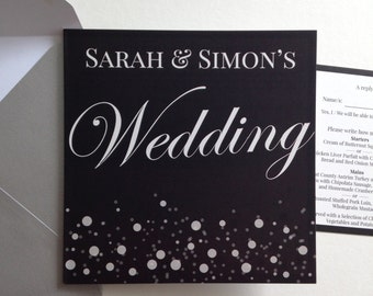 Personalised Champagne Wedding Invitations P&P + Envelopes included