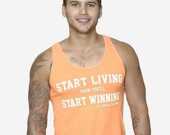 Start Living Orange Neon Tank