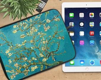 Almond Blossoms by Van Gogh Ipad Sleeve, Van Gogh Neoprene Tablet Sleeve, Soft Ipad Sleeve, Ipad 2/3/4, Ipad Air Sleeve, Tablet Travel Case