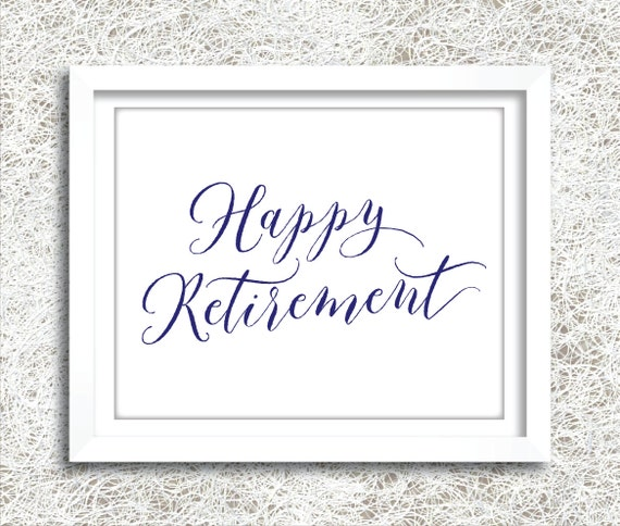 items similar to printable navy happy retirement sign