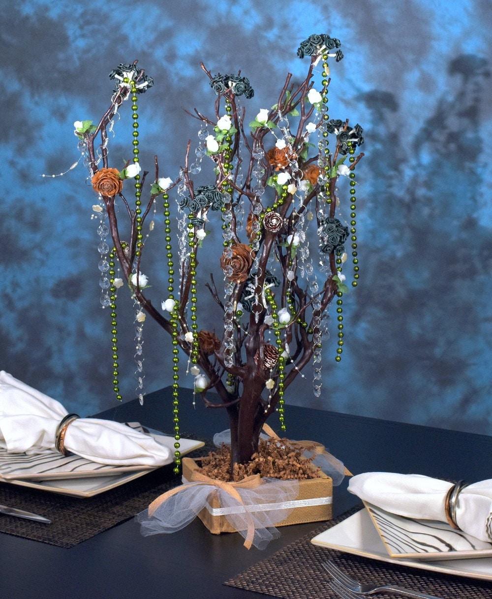Rustic natural manzanita tree wedding centerpiece home