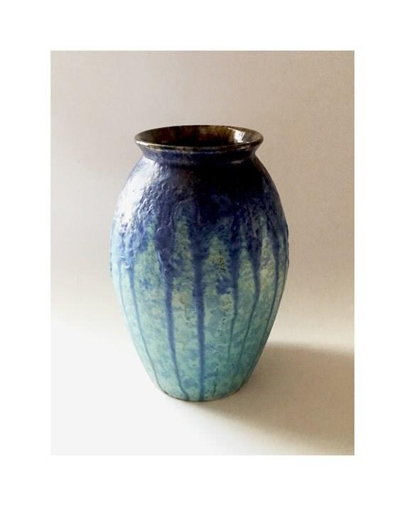 villeroy and boch drip glaze large vase style 274 blue. Black Bedroom Furniture Sets. Home Design Ideas