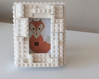 White Lego picture frame