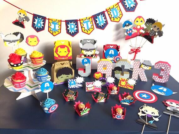 avengers birthday package superhero party kit avengers baby shower