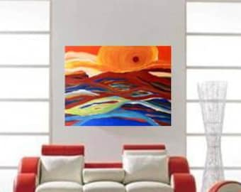 Colorful Abstract Painting, ABSTRACT ART PAINTING, Original Canvas Painting, Modern Art on Canvas, Paintings on Canvas, Abstract Landscape
