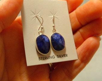 SAPPHIRE EARRINGS Sterling Silver