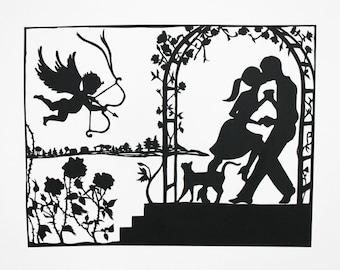 Valentine Papercut