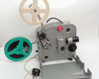 Movie Projector, Russian film projector, Luch Film Projector, film reel, Projector, Luch 2, Film Projector 8mm, Film, Movie, USSR, 60s