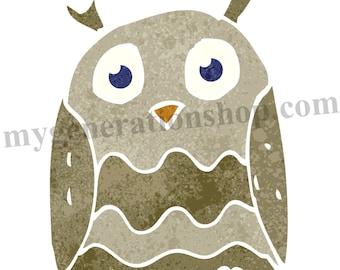 Blue Eyed Owl Little Ones Poster
