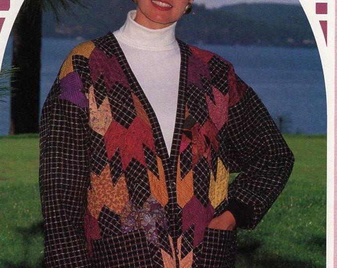 FREE US SHIP Back Porch Press Maple Leaf Rag Cardigan Size 6-22 Gaile E Abeloe Craft Sewing Pattern Uncut