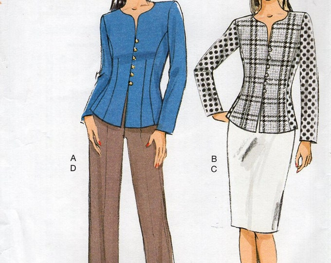 Vogue 9093 Sewing Pattern  Free Us Ship Suit Jacket Skirt Pants Button front Size 6/14 14/22 Bust 30 32 34 36 38 40 42 44 2015 New