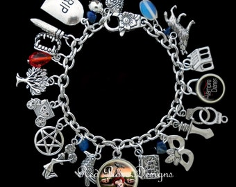 The Vampire Diaries Themed Charm Bracelet