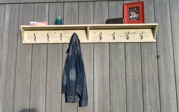Rustic Foyer Xl : Extra large coat rack entryway shelf big by