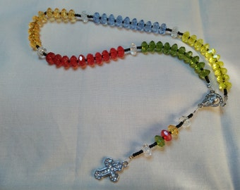 New Strung  Multi Coloured Rosary