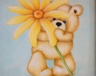 Teddy Bear with yellow flower