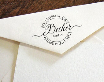 Return Address Stamp, Address Stamp, Family address stamp, Personalised Stamp, Self-Ink Address Stamp
