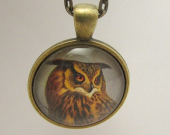 Owl Necklace, Owl Pendant, Owl Jewelry, Owl Charm, Glass Necklace, Necklace, Glass Pendant, Pendant, Glass Charm, Charm, Owl Lover Gift