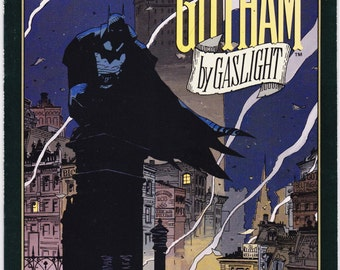Batman in Gotham by Gaslight comic. Jack the Ripper Gifts, Mike Mignola art from Hellboy. Graphic Novel, Book, DC Comics, NEW