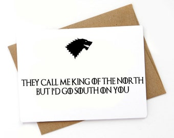 Funny Game of Thrones Valentines Day Card, Love card