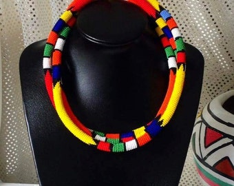 Three Assorted Zulu beaded necklace combo