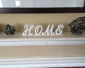 HOME Letters for Fireplace Mantle, Bookshelf, Kitchen, Etc. 3D Printed!