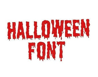 Halloween Embroidery Font, 1,2,3 Inches, Instant Download