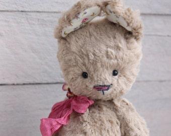 "Stuffed bunny.""Caramel"".Bunny. Stuffed rabbit.Rabbit.Teddy Bear.Vintage teddy.Old teddy.Torture teddy.Artist teddy.Teddy"
