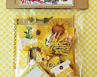 Sunshine Mini Kit, Letterwriting set, stationery , Happy Mail , Snail Mail , Pen Pal