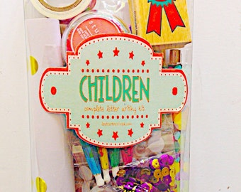 Children's Complete Letter Writing Kit / snailmail kit , Snail Mail , Penpal , Penpal kit , children's letter kit , letter writing