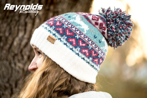 PDF Knitting Pattern Horse Beanie Fair Isle Winter