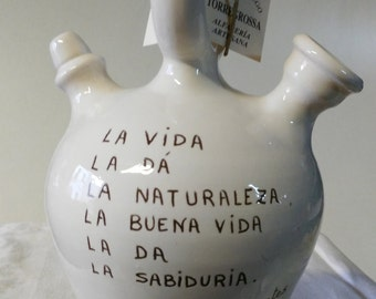 """Spanish botijo """"which reads much, goes much, much sees and knows a lot"""""""