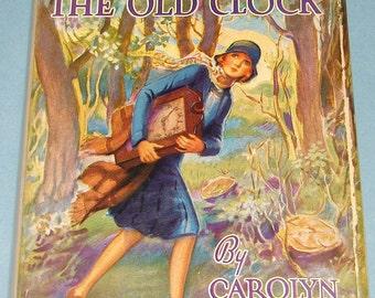 Nancy Drew #1 Old Clock Blank Endpapers LATER DJ